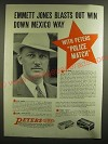 1940 Peters Police Match and Target Ammunition Ad - E.E.Jones