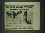 1940 Redfield Olympic Micrometer Receiver Sight Ad