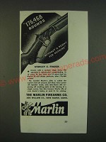 1940 Marlin 39A Rifle Ad - 176,468 rounds without a penny for repairs