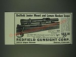1940 Redfield Junior Mount and Lyman Alaskan Scope Ad