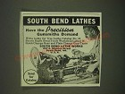 1940 South Bend Lathe Works Ad - South Bend Lathes have the precision Gunsmiths