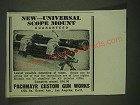 1940 Pachmayr Universal Scope Mount Ad - New - Universal scope mount guaranteed