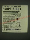 1939 Mossberg Model 5M4 Scope Ad - Just what you want in a scope sight