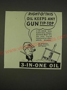 1939 3-in-One Oil Ad - Right-O! This oil keeps any gun tip-top