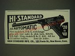1939 High Standard .22 Automatic Pistol Ad