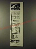 1945 Marlin Model 39-A Rifle Ad - The best Marlin rifles since 1870