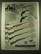 1945 H&R Harrington & Richardson Guns Ad - Sportsman Model 999 Revolver