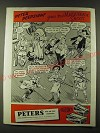 1945 Peters Police Match Ammunition Ad - Peter Peepsight goes to a Masquerade