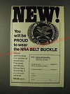 1979 NRA National Rifle Association Ad - New! You will be proud to wear the NRA