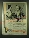 1946 Winchester Model 75 and Model 52 Rifles and Leader Ammunition Ad
