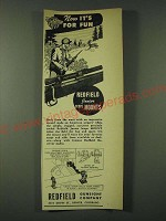 1946 Redfield Junior Scope Mount Ad - Now it's for fun