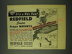 1946 Redfield Junior Scope Mount Ad - It's a vet, too!