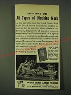 1946 South Bend Lathe Works Ad - Efficient on all types of Machine Work