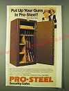1980 Pro-Steel Security Safe Ad - Dub & Buck Taylor - Put up your guns