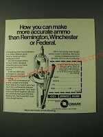 1980 Omark CCI Speer RCBS Handloading Ad - How you can make more accurate ammo