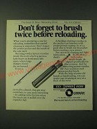 1980 Omark CCI Speer RCBS Handloading Ad - Don't forget to brush twice before