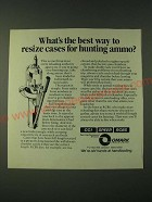 1980 Omark CCI Speer RCBS Handloading Ad - What's the best way to resize cases
