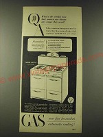 1948 AGA American Gas Association Ad - Gaffers & Sattler Gas Range Ad