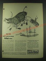 1948 American Brake Shoe Company Ad - Now the great Blue Ox wears welded shoes