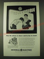 1948 General Electric Television Ad - Only the referee is closer