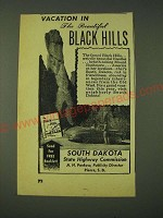 1948 South Dakota State Highway Commission Ad - Vacation in the Black Hills