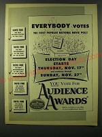1955 Audience Awards Ad - Everybody votes in first popular national movie poll