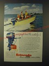 1955 Evinrude Electric Big Twin Outboard Motor Ad - Some people have most fun