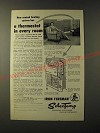 1955 Iron Fireman SelecTemp Ad - heating system has a thermostat in Every Room