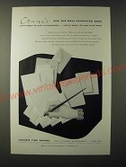 1955 Crane's Paper Ad - Crane's - for the well-appointed desk