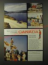 1955 Canada Tourism Ad - There's room to relax in uncrowded Canada