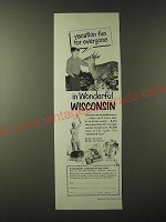 1955 Wisconsin Conservation Dept. Ad - Vacation fun for everyone