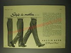 1955 Austin Reed Sports Trousers Ad - Style in motion…