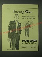 1955 Moss Bros Fashion Ad - Evening Wear