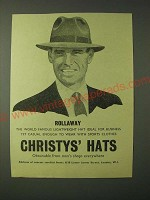 1955 Christys' Hats Ad - Rollaway