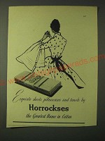 1955 Horrockses Sheets, pillowcases and towels Ad - Exquisite