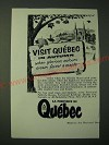 1955 Quebec Canada Ad - Visit Quebec in Autumn glorious colours crown forest