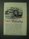1955 Williamsburg Virginia Ad - Journey into history at Williamsburg Virginia