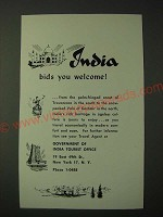 1955 India Tourism Ad - India Bids You Welcome