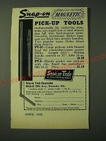 1955 Snap-On Magnetic Pick-up Tools PT-27 and PT-6 Ad