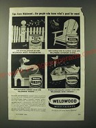 1960 Weldwood Wood Preservative, Exterior Stains, Firzite and Spar Varnish Ad