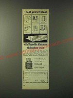 1960 Reynolds Metals Ad - 6 do-it-yourself ideas with sliding door track