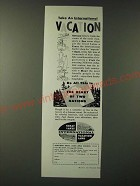 1960 Northern Great Lakes Area Council Ad - Take an international vacation