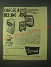1960 Belling Electric Fires Ad - Princess, Radiant Zephyr Convector and Countess