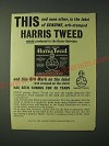 1960 Harris Tweed Fashion Ad - This and none other