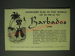 1960 Barbados Tourism Ad - Nowhere else in the world can you find all that