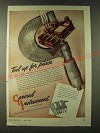 1943 General Instrument Corporation Ad - Tool up for peace