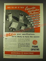 1943 GE General Electric Pyranol Capacitors Ad - Have you any of these