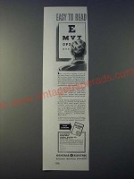 1943 GE General Electric Electronic Measuring Instruments Ad - Easy to read