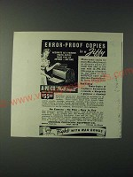1943 Apeco Photo Copyer Ad - Error-proof copies in a Jiffy