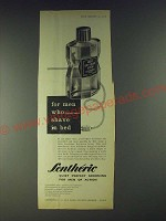 1958 Lentheric Men's Dry-Shave Lotion Ad - For men who sometimes shave in bed